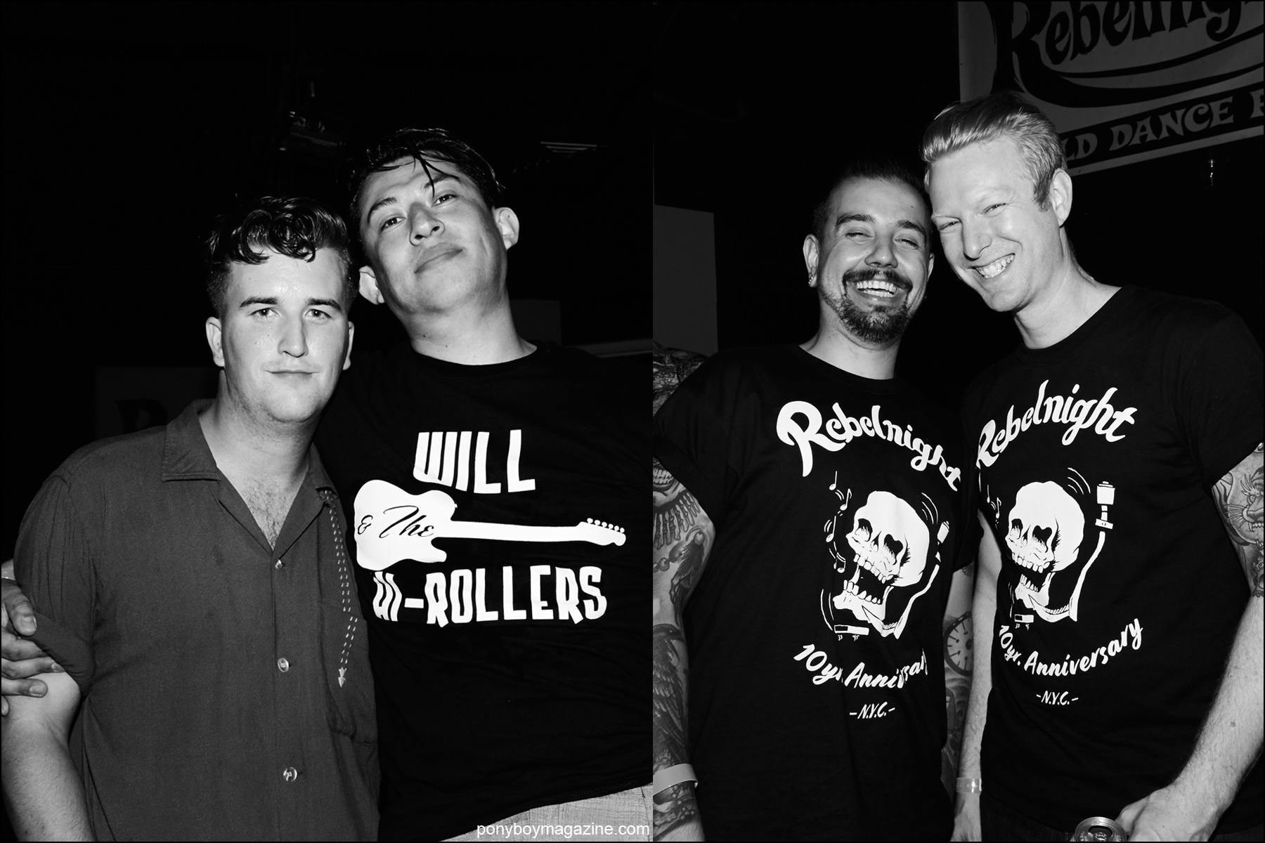Rockabilly men photographed at Rebel Night NYC Hula Rock Vol 2 weekender. Photographs by Alexander Thompson for Ponyboy magazine NY.