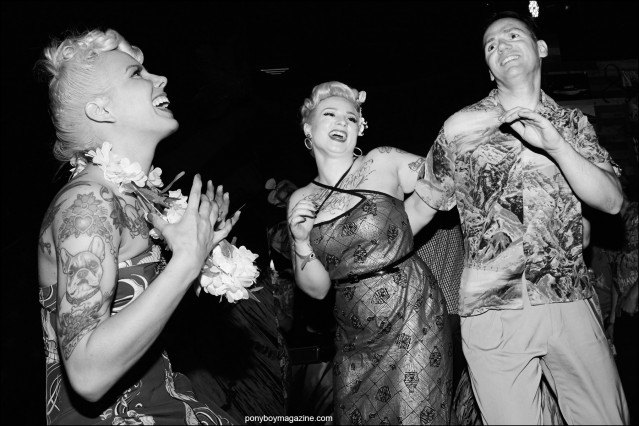 Rockabilly partygoers photographed on the Hula Rock Vol 2 dance floor in New York City. Photographs by Alexander Thompson for Ponyboy magazine.