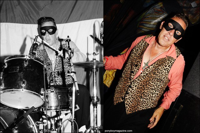 Ricky McCann, rockabilly drummer for Silvertooth Loos & The Witch, photographed at Rebel Night Hula Rock Vol 2 weekender in New York City. Photographs by Alexander Thompson for Ponyboy magazine.