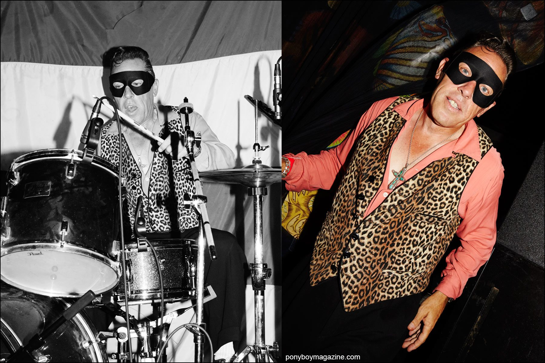 Ricky McCann, rockabilly drummer for Silvertooth Loos & The Witch, photographed at Rebel Night Hula Rock Vol 2 weekender in New York City. Photographs by Alexander Thompson for Ponyboy magazine NY.