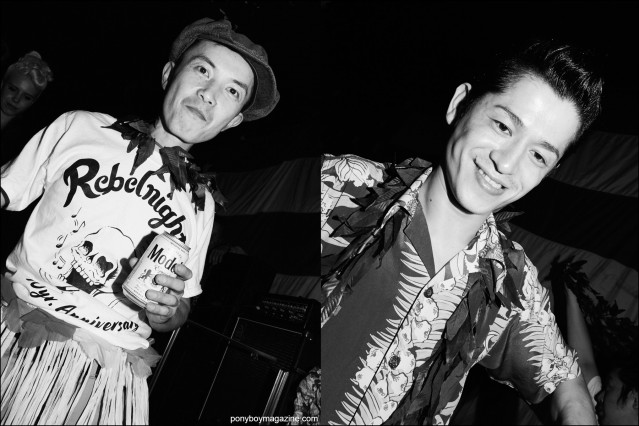 Japanese rockabilly dj's at Hula Rock Vol 2 weekender in New York City. Photographs by Alexander Thompson for Ponyboy magazine.