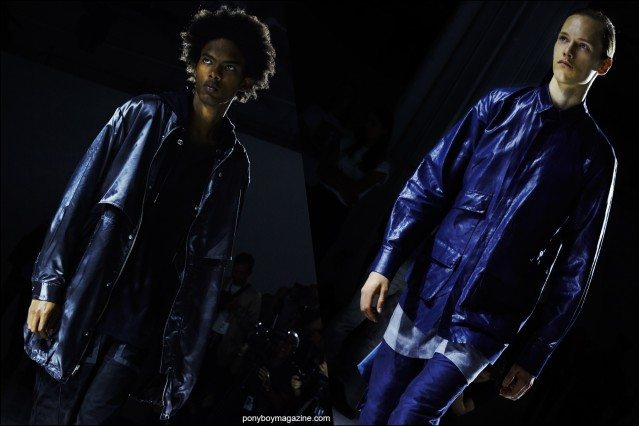 Models photographed on the runway by Alexander Thompson, Rochambeau Spring/Summer 2016. Ponyboy magazine.