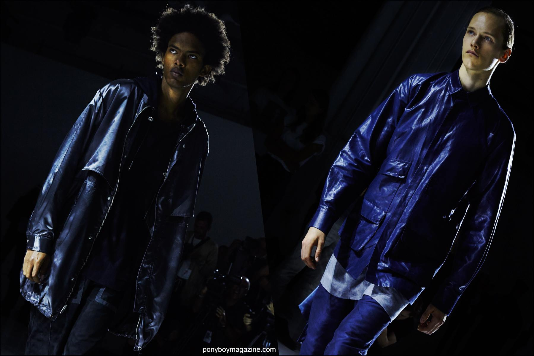 Models photographed on the runway by Alexander Thompson, Rochambeau Spring/Summer 2016. Ponyboy magazine NY.