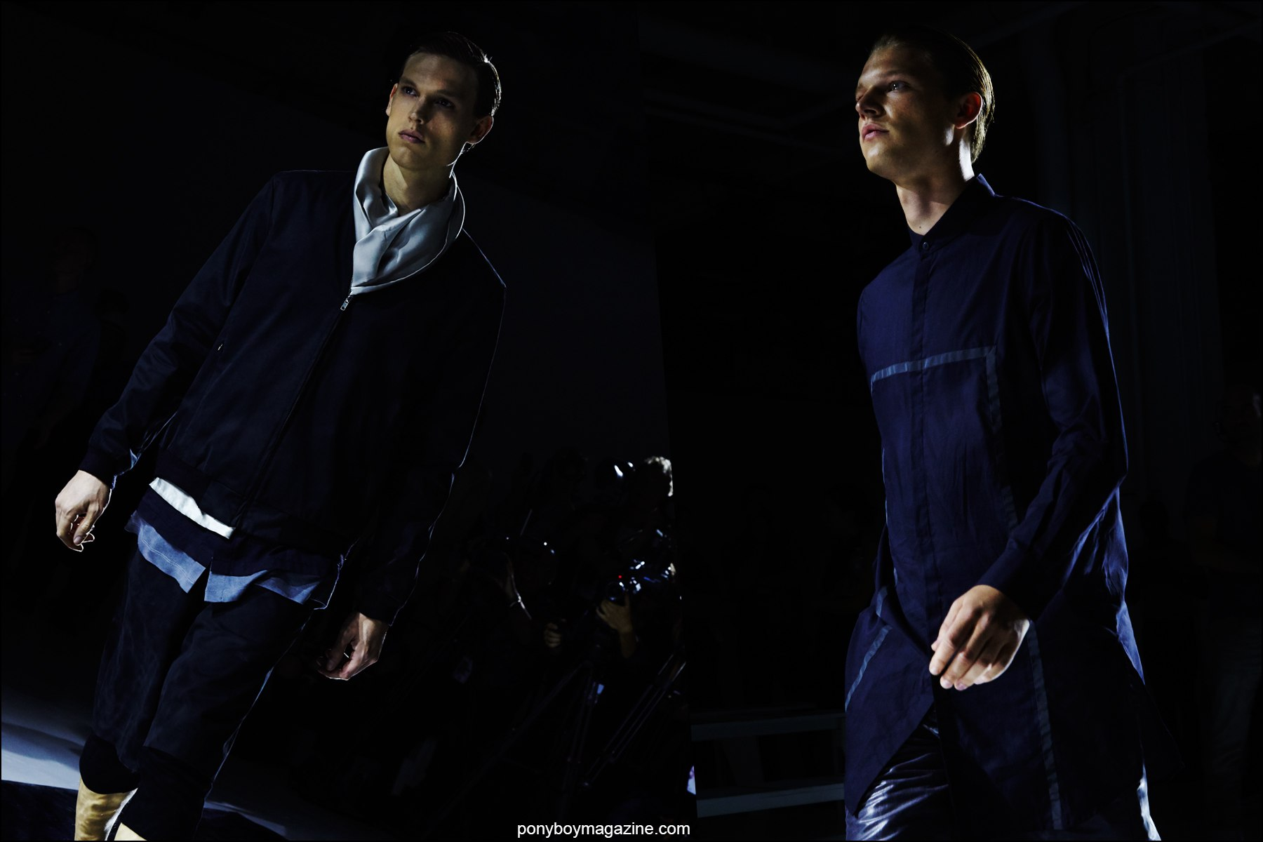 Male models photographed on the Rochambeau S/S16 runway. Photographed by Alexander Thompson for Ponyboy magazine NY.