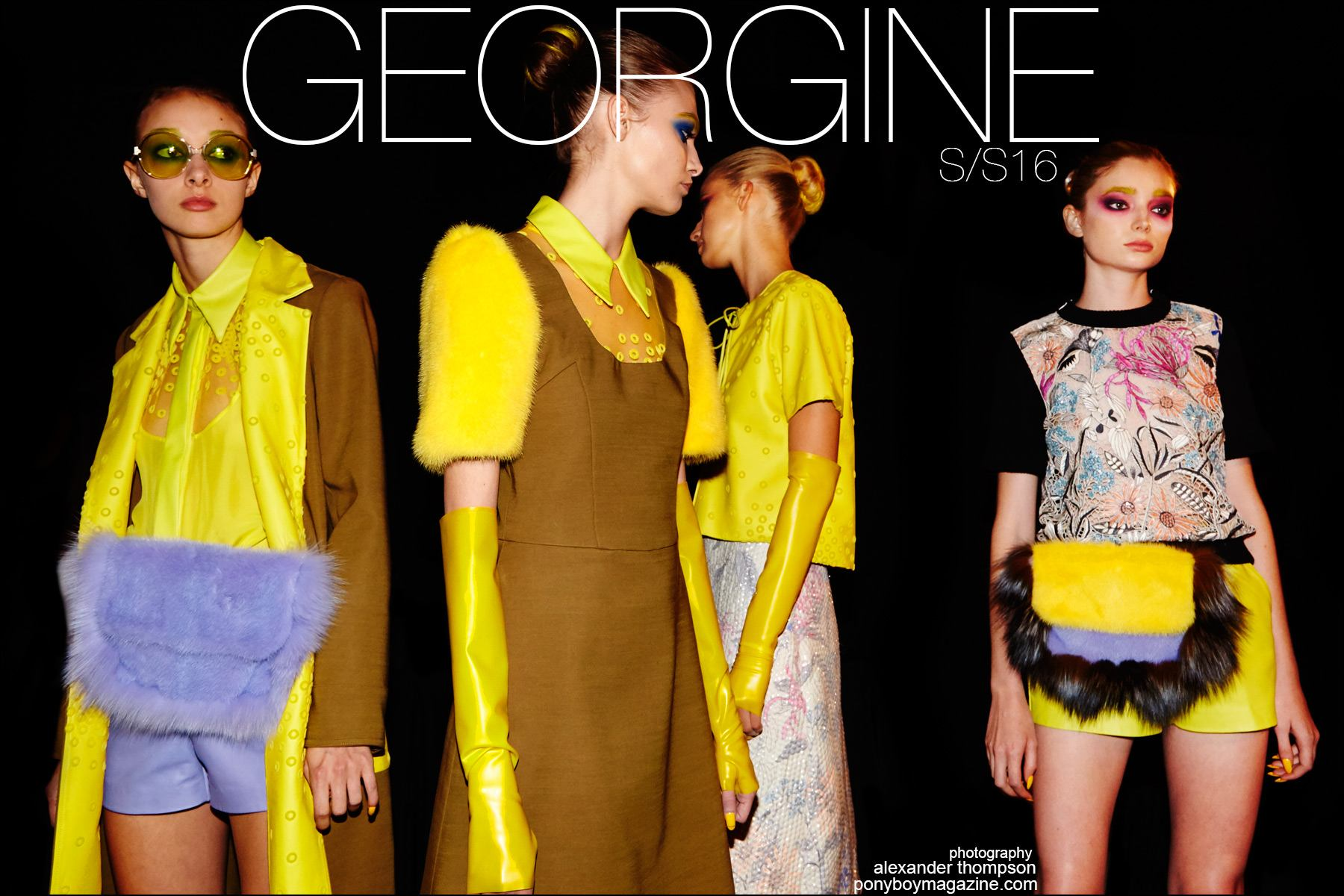 The Georgine Spring/Summer 2016 womenswear collection. Photography by Alexander Thompson for Ponyboy magazine NY.