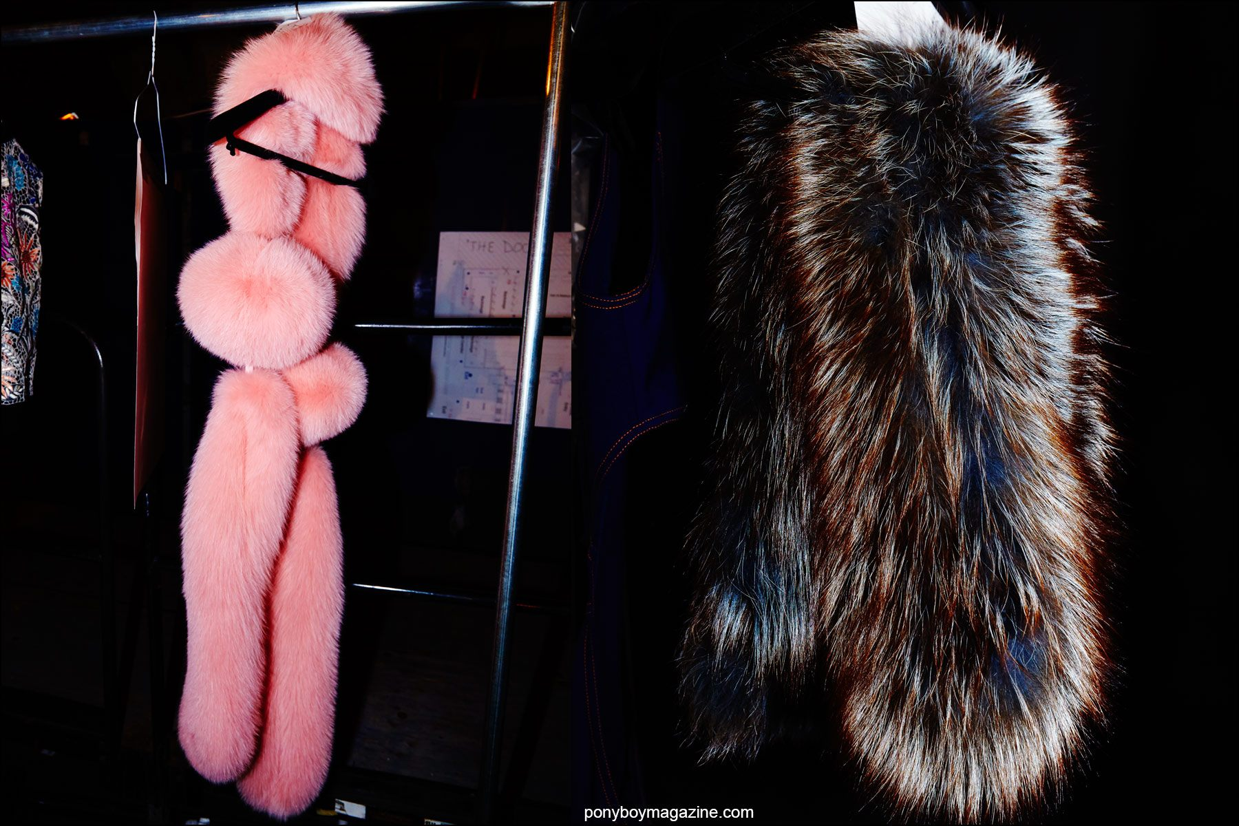 Detail shots of furs from the Georgine Spring/Summer 2016 womenswear collection. Photography by Alexander Thompson for Ponyboy magazine NY.