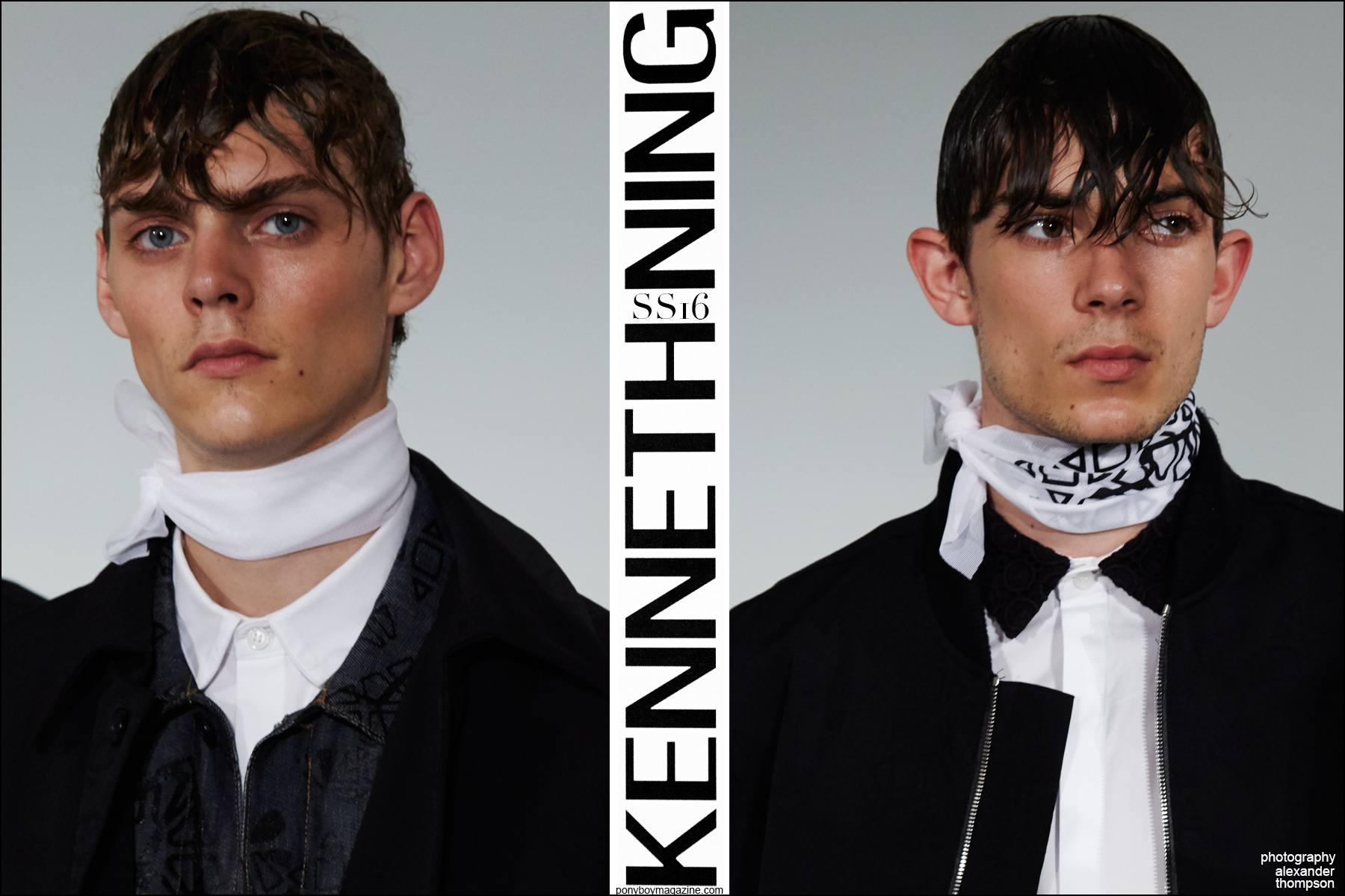 Male model Mats Van Snippenberg photographed at Kenneth Ning Spring/Summer 2016 menswear presentation at Industria Studios New York. Photographed by Alexander Thompson for Ponyboy magazine NY.