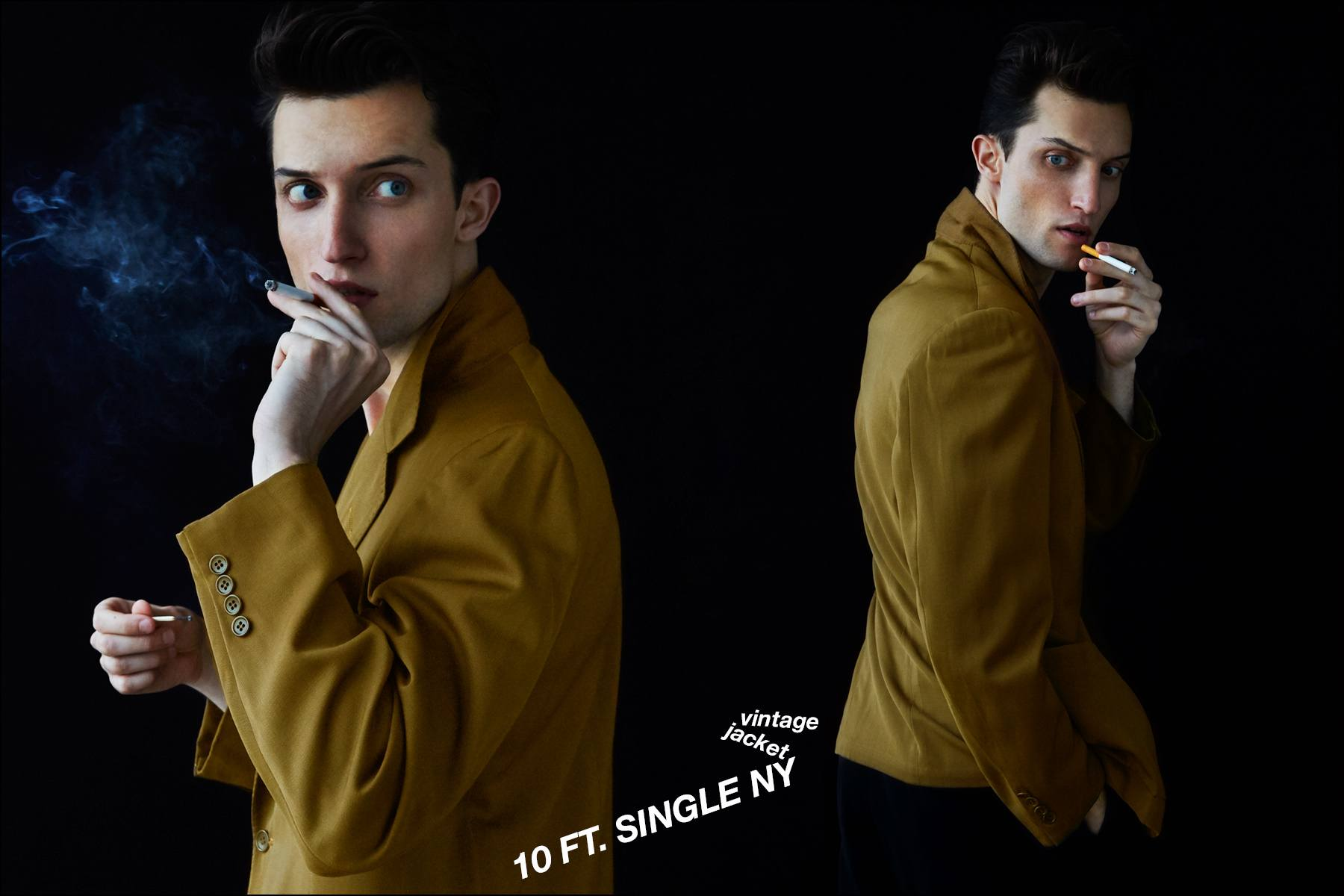Male model Max Von Isser, with Fusion NY, photographed in vintage menswear for Ponyboy magazine NY. Photography by Alexander Thompson.