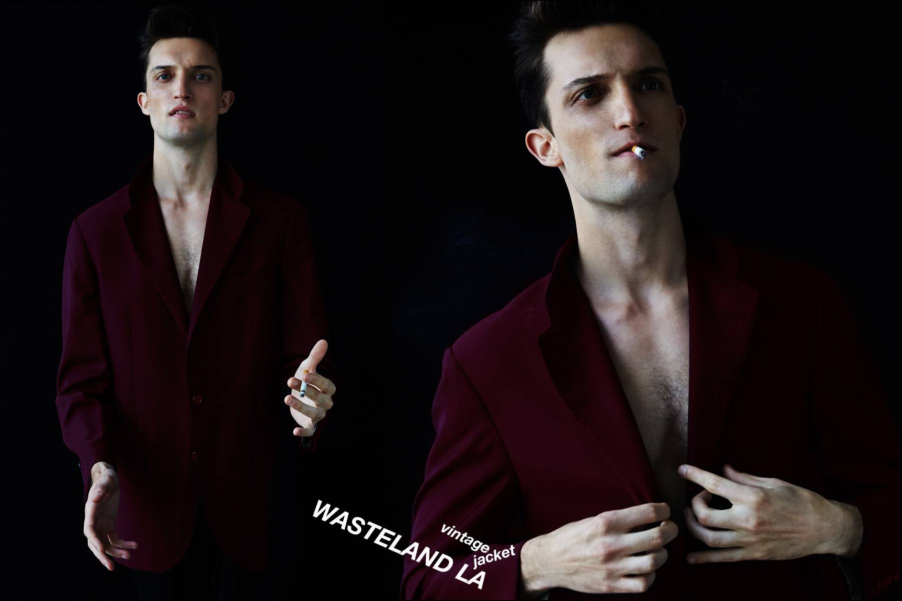 Male model Max Von Isser, from Fusion Model Management, photographed in vintage menswear for Ponyboy magazine NY. Photographs by Alexander Thompson.