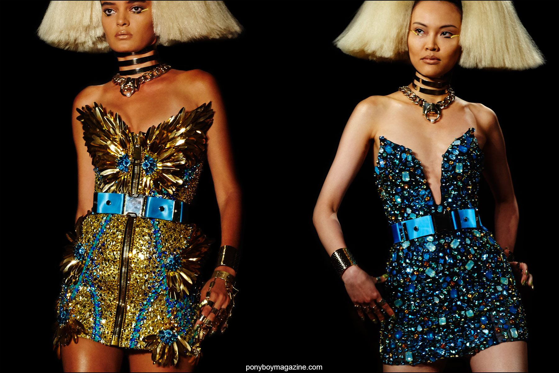 Fabulous creations on the Blonds Spring/Summer 2016 runway, photographed by Alexander Thompson for Ponyboy magazine NY.