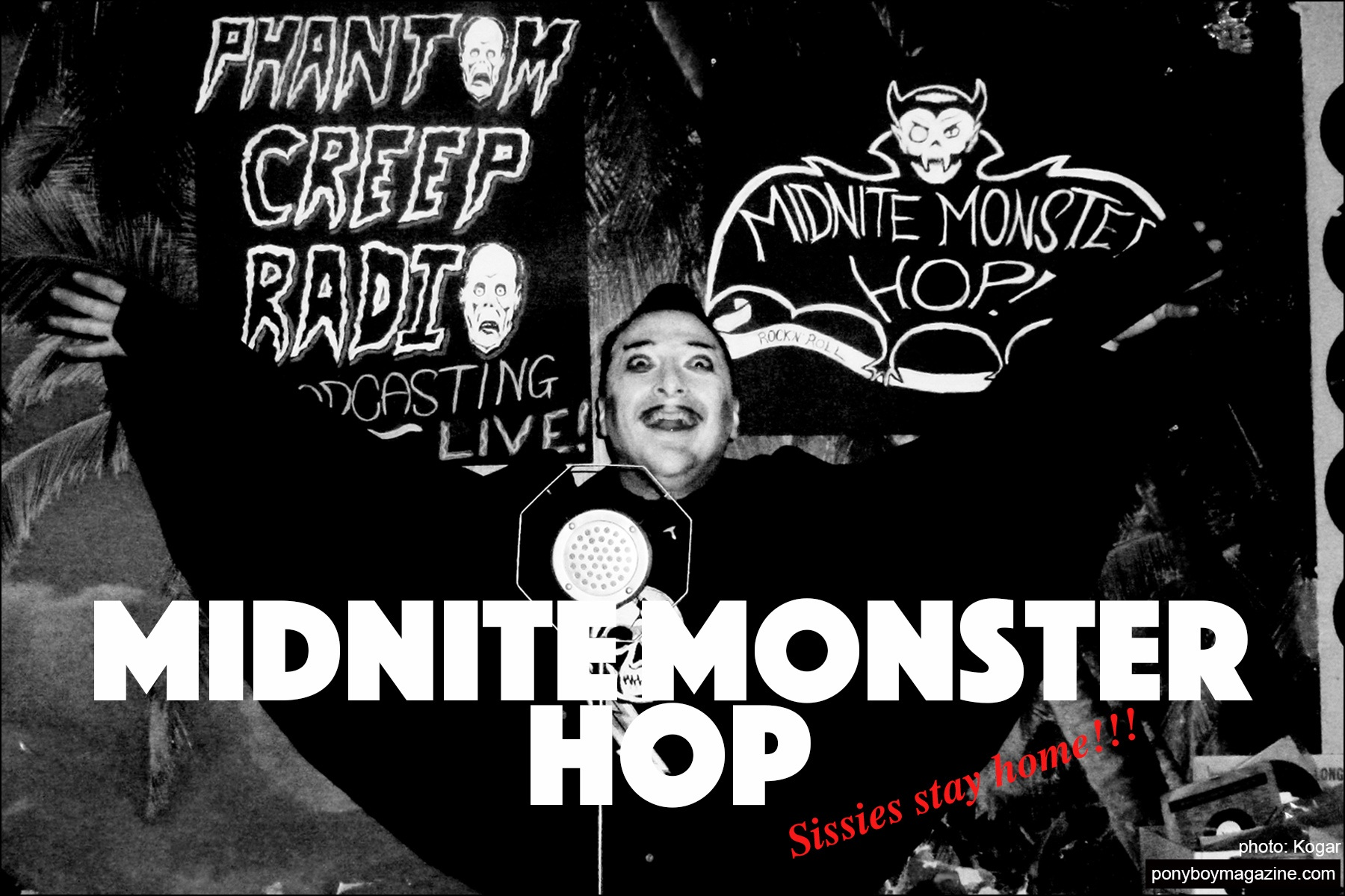 The Midnite Monster Hop party. Ponyboy magazine.