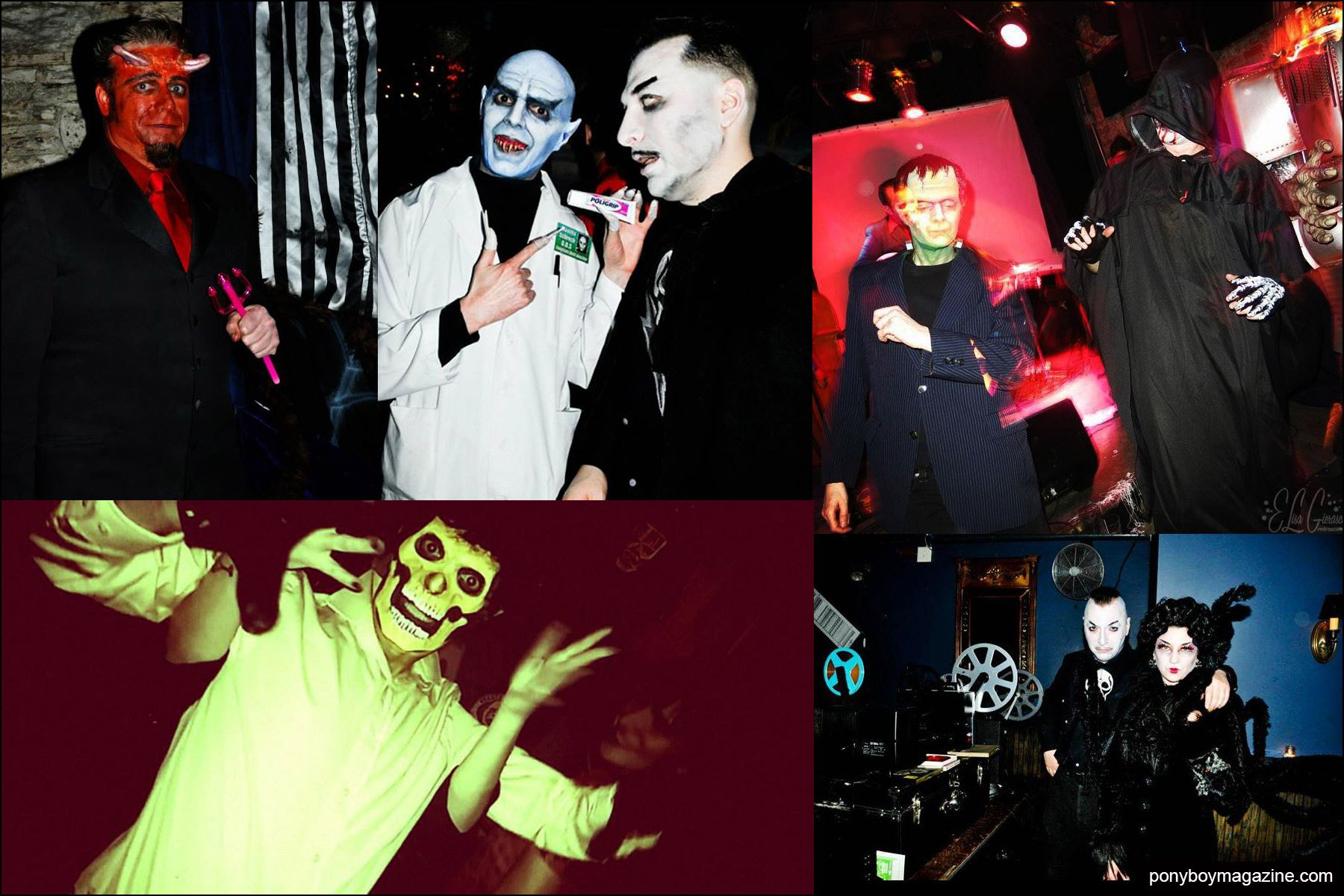 Festive partygoers snapped at the Midnite Monster Hop in New York City. Ponyboy magazine NY.