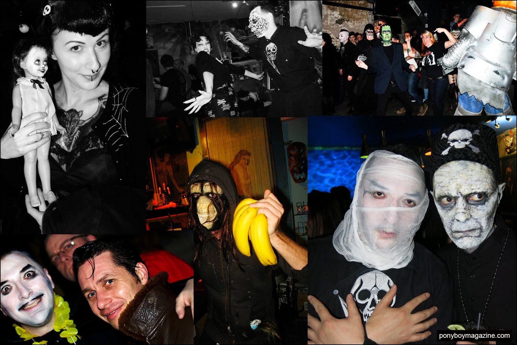 Snapshots of partygoers at New York City's Midnite Monster Hop event. Ponyboy magazine NY.