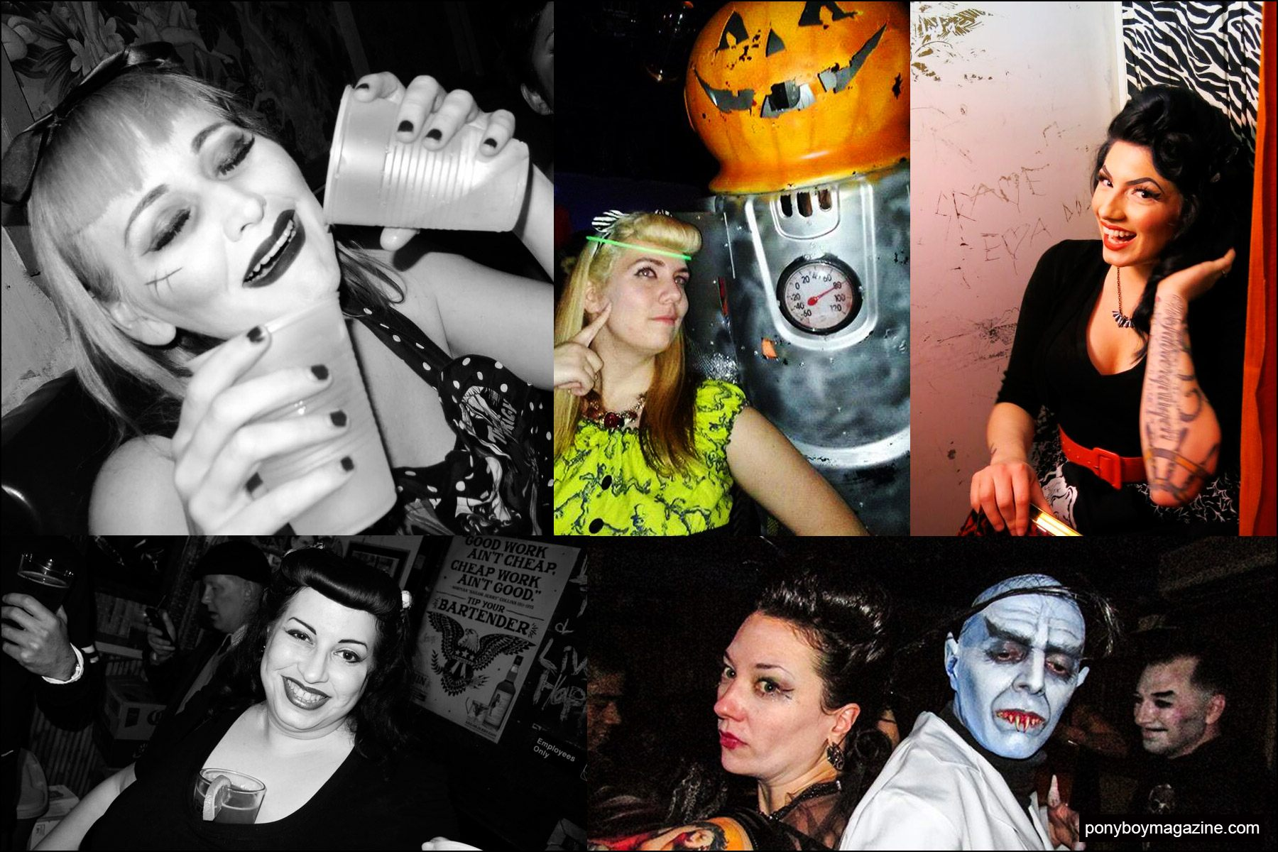 Snapshots of lovelies at the Midnite Monster Hop in New York City. Ponyboy magazine NY.
