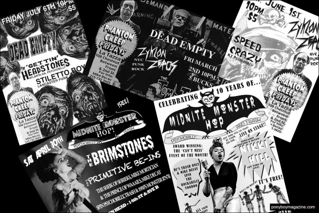 Incredible flyers from New York City party Midnite Monster Hop. Pony boy magazine.