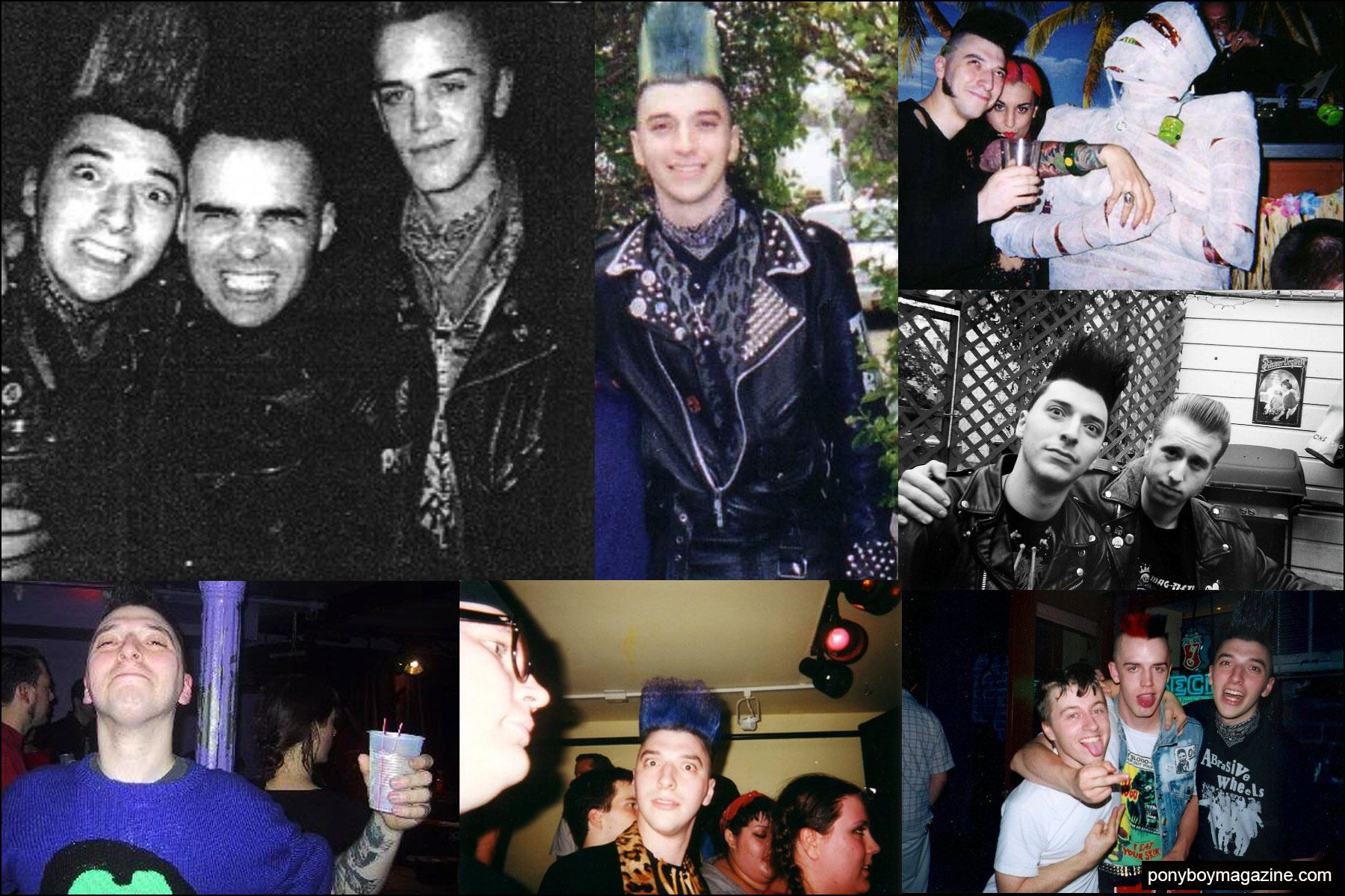 Photographs of psychobilly Mike Decay, founder of New York City party Midnite Monster Hop. Ponyboy magazine NY.
