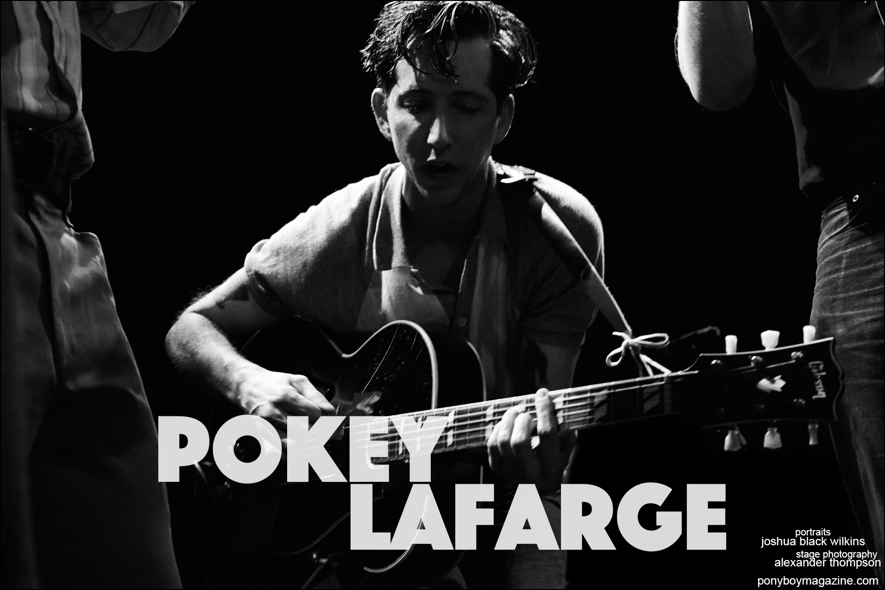 Musician Pokey LaFarge photographed at the Bowery Ballroom in New York City. Photographed by Alexander Thompson for Ponyboy magazine.