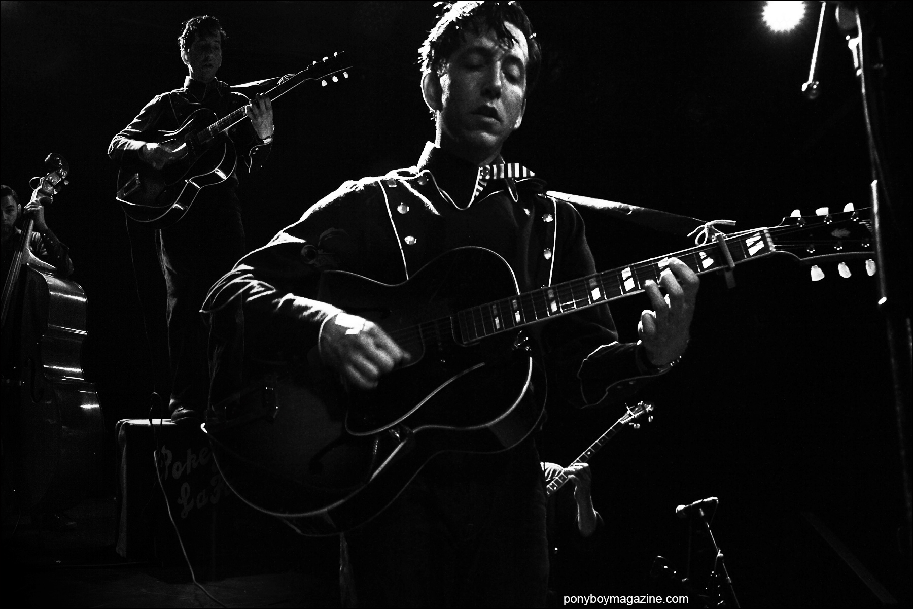 Pokey LaFarge photographed by Alexander Thompson, onstage at Bowery Ballroom in New York City. Ponyboy magazine NY.