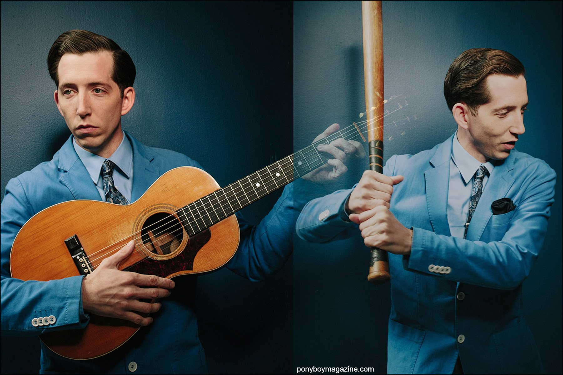 Portraits of musician Pokey LaFarge by photographer Joshua Black Wilkins. Ponyboy magazine.