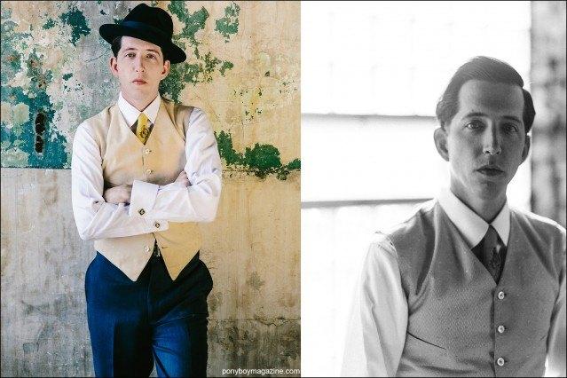 Portraits of musician Pokey LaFarge by Joshua Black Wilkins. Ponyboy magazine.