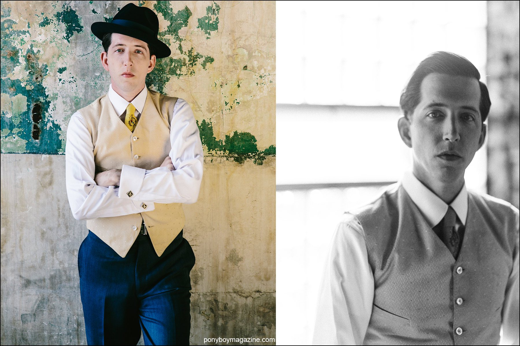 Portraits of musician Pokey LaFarge by Joshua Black Wilkins. Ponyboy magazine NY.