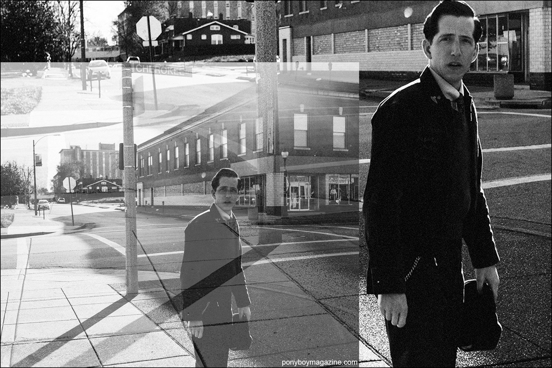 Black and white photographs of musician Pokey LaFarge by Joshua Black Wilkins. Ponyboy magazine NY.
