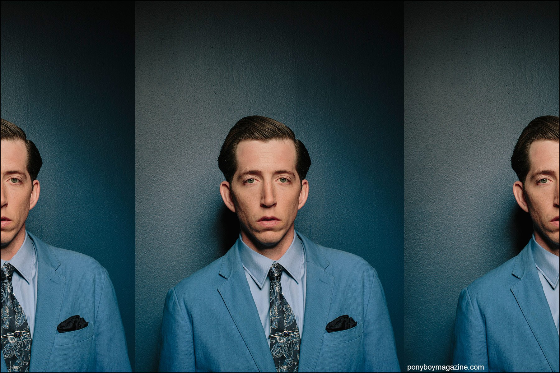 Portrait of musician Pokey LaFarge by photographer Joshua Black Wilkins. Ponyboy magazine New York.