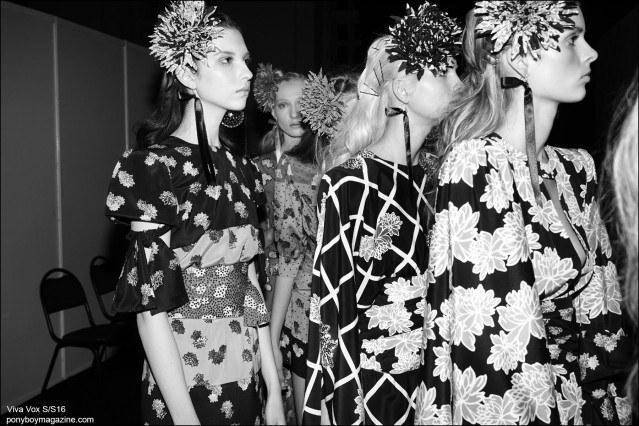 Models photographed backstage at the Viva Vox Spring/Summer 2016 show for Moscow Fashion Week. Photography by Guy Kushi & Yariv Fein. Ponyboy magazine.