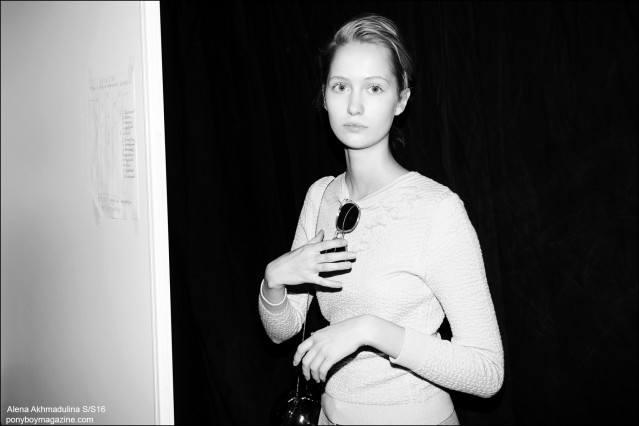Backstage photography at the Alena Akhmadulina Spring/Summer 2016 show for Moscow Fashion Week. Photographed by Guy Kushi & Yariv Fein. Ponyboy magazine.