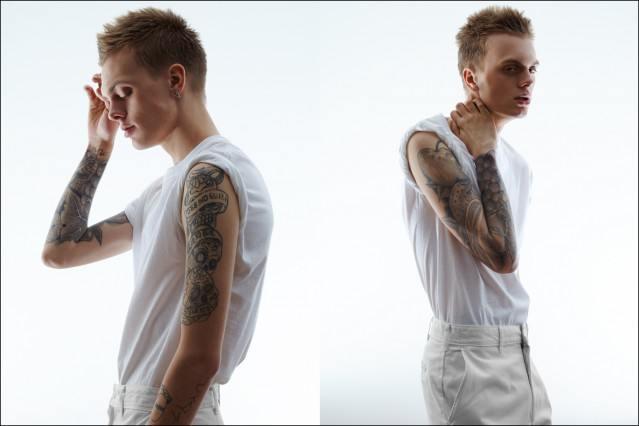 Fusion male model newcomer Ian Weglarz stars in 6-pack Fusion men, photographed by Alexander Thompson for Ponyboy magazine.