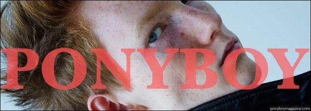 Fusion agency model Matt Pitt. Grooming by Yuk Kim, and photography by Alexander Thompson. Ponyboy magazine.