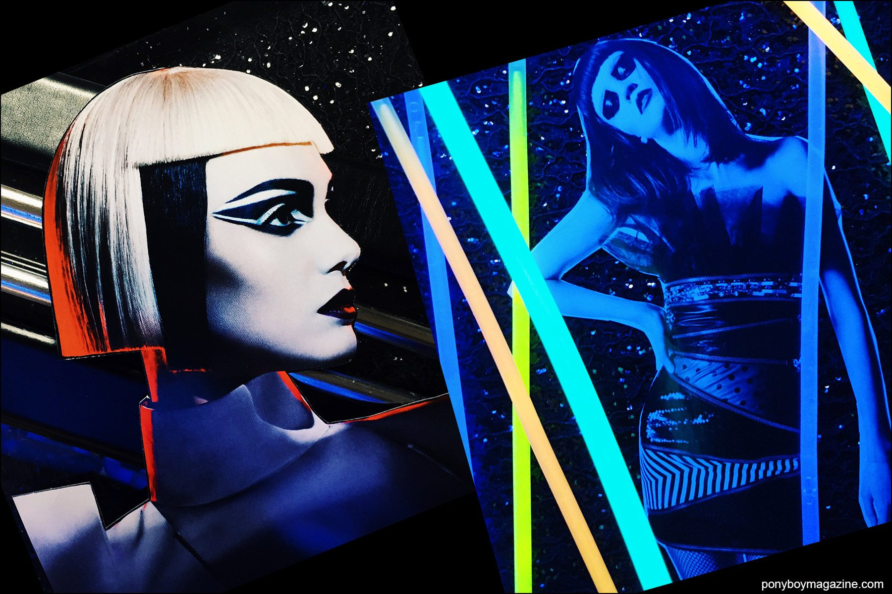 Collage artwork of Pat McGrath and Saint Laurent images by Patrick Keohane for RS Theory. Ponyboy magazine NY.