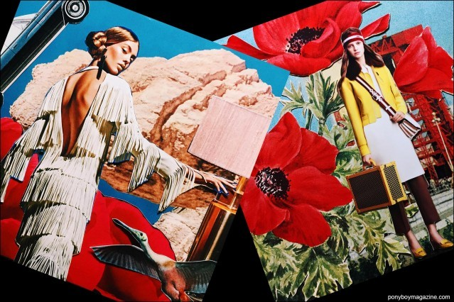 Collage artwork of Tom Ford and Bally images by Patrick Keohane for RS Theory. Ponyboy magazine.