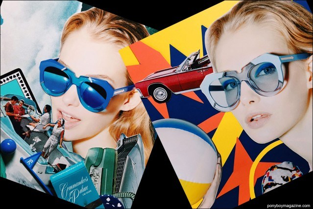 Collage artwork of Karen Walker images by Patrick Keohane for RS Theory. Ponyboy magazine.