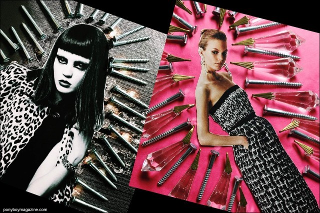 Collage artwork of Saint Laurent and Balenciaga images by Patrick Keohane for RS Theory. Ponyboy magazine.