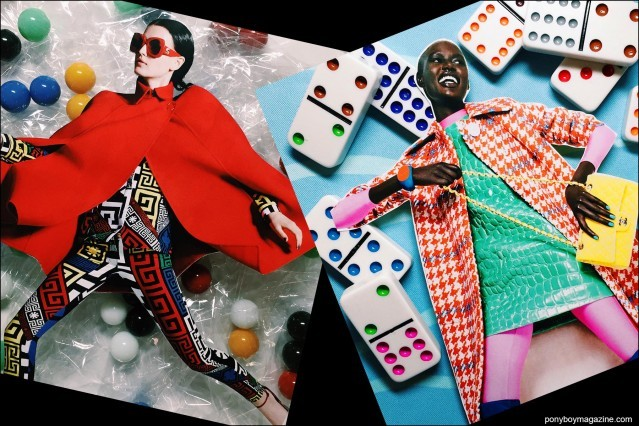 Collage artwork of Versace and Domino images by Patrick Keohane for RS Theory. Ponyboy magazine.