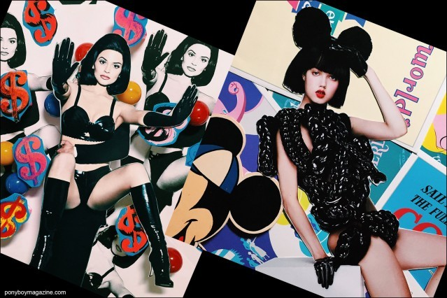 Collage artwork of Kylie Jenner and Lindsey Wixson images by Patrick Keohane for RS Theory. Ponyboy magazine.