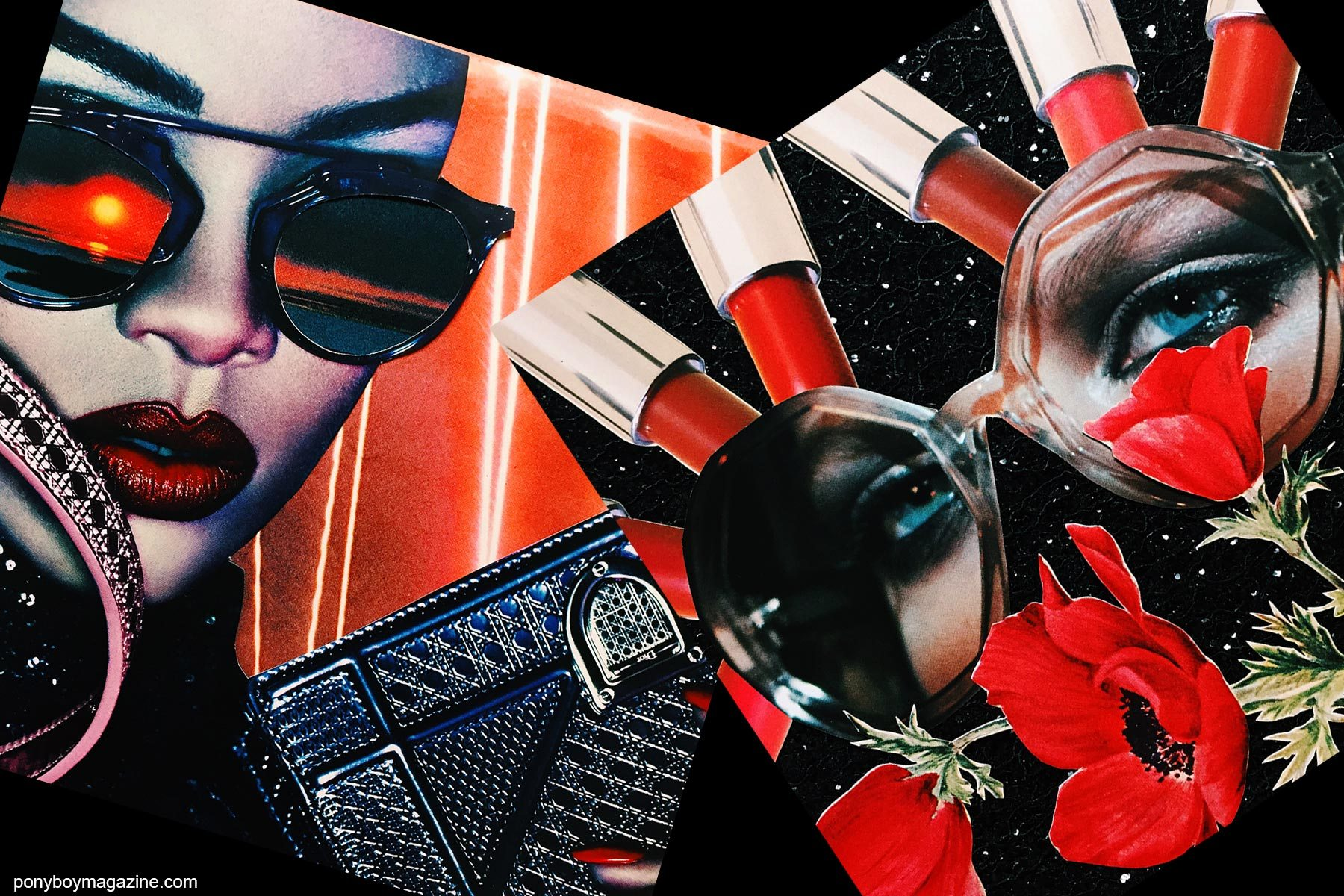 Collage artwork of Badgal and Marc Jacob images by Patrick Keohane for RS Theory. Ponyboy magazine NY.