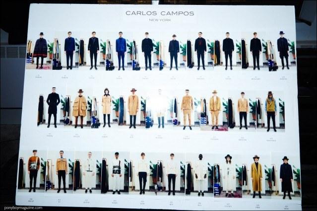Carlos Campos F/W16 designer looks, photographed backstage by Alexander Thompson for Ponyboy magazine.