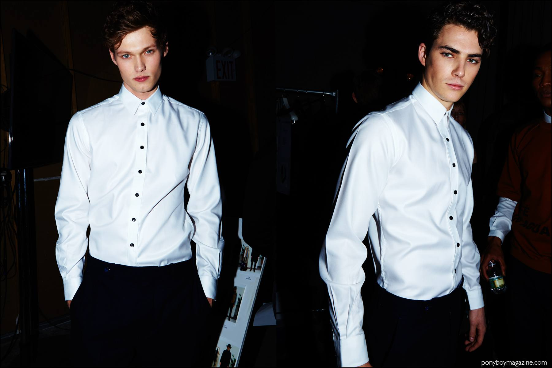 The classic white shirt, as done by designer Carlos Campos, for Fall/Winter 2016. Photography by Alexander Thompson for Ponyboy magazine NY.