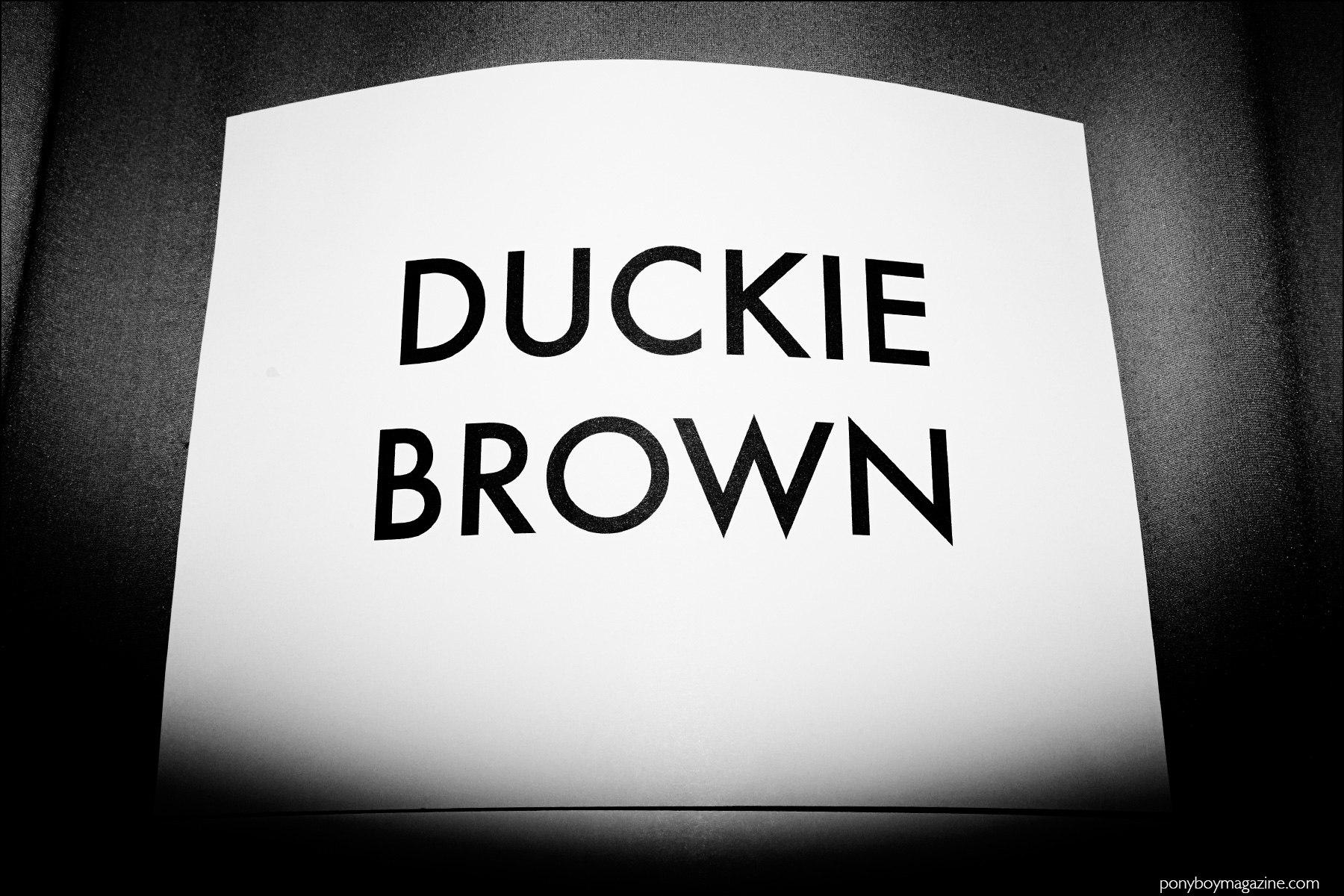 Duckie Brown F/W16 menswear. Ponyboy magazine NY.