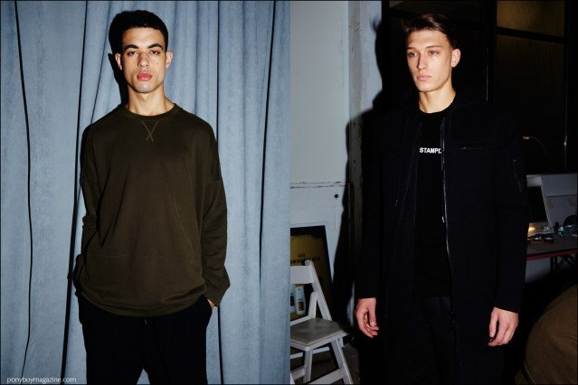 Stampd F/W16 menswear photographed backstage by Alexander Thompson for Ponyboy magazine.