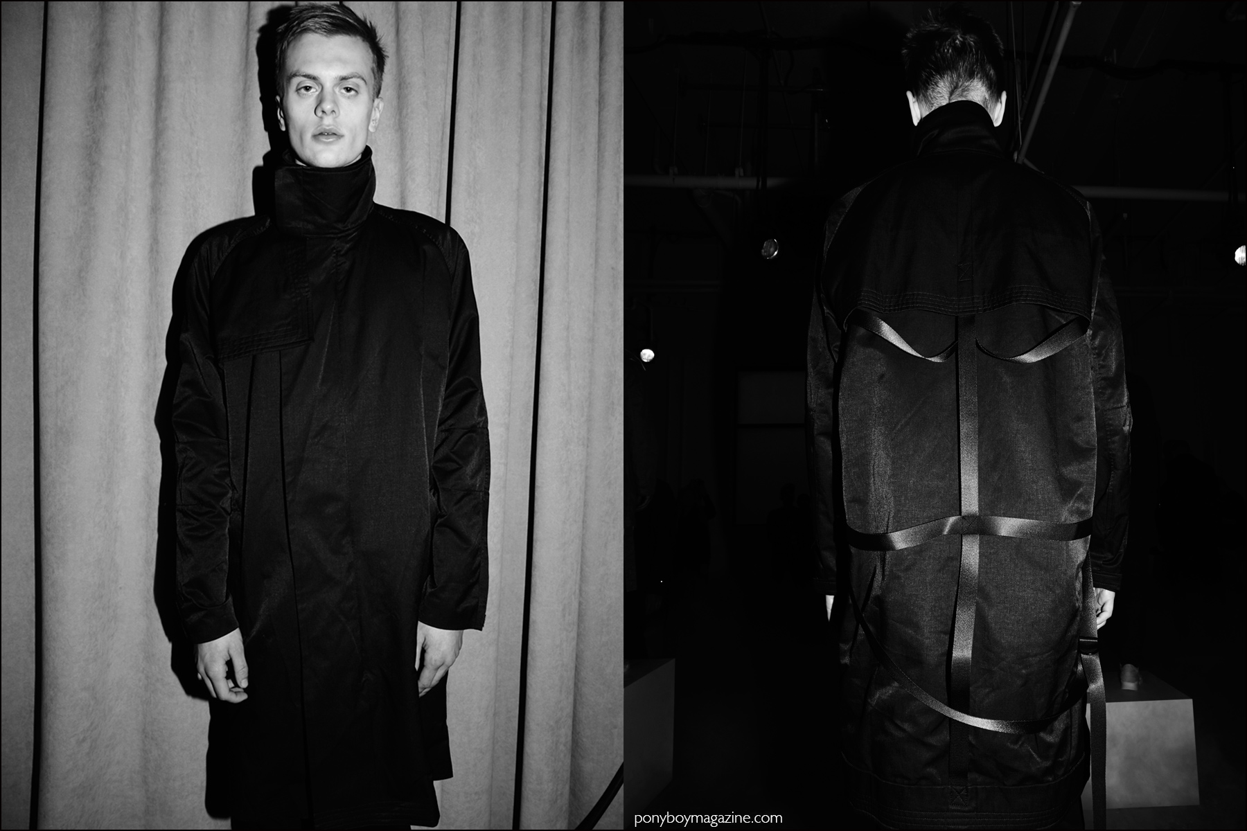 Model Ian Weglarz photographed backstage at Stampd F/W16 menswear show by Alexander Thompson for Ponyboy magazine NY.