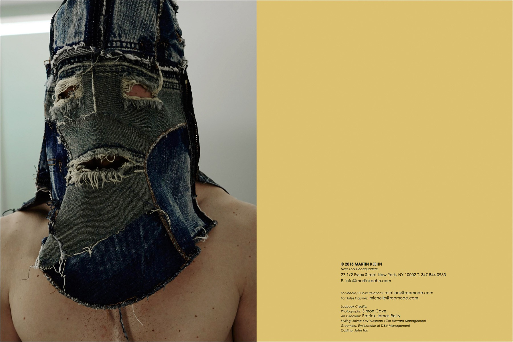 The Martin Keen Fall/Winter 2016 menswear lookbook photographed by Simon Cave. Ponyboy magazine NY.