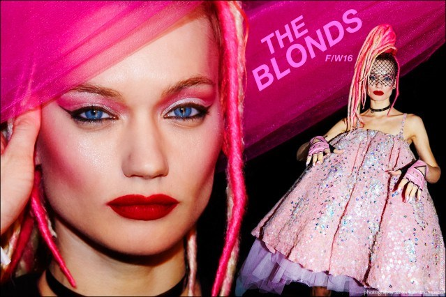 Model Lyoka Tyagnereva photographed backstage at the Blonds F/W16 womenswear show. Photography by Alexander Thompson for Ponyboy magazine.
