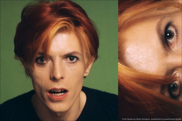 A headshot of musician David Bowie, from the book Bowie by Steve Schapiro, published by powerHouse Books. Ponyboy magazine.