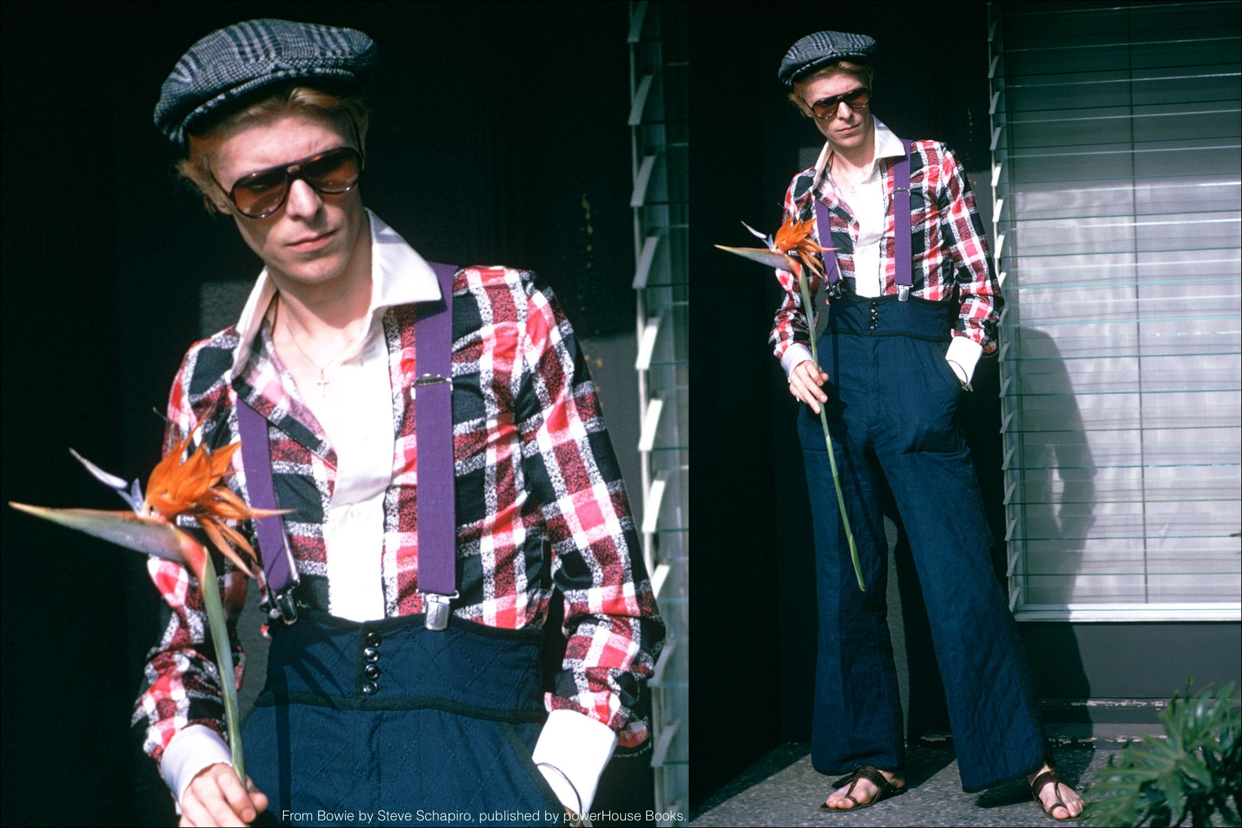 David Bowie photographed in Los Angeles in 1974. From the book Bowie by Steve Schapiro, published by powerHouse Books. Ponyboy magazine NY.