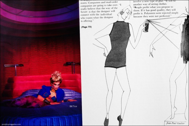 Fashion photography and sketches featured in the book Fashion: 2001 by Lucille Khornak. Ponyboy magazine.