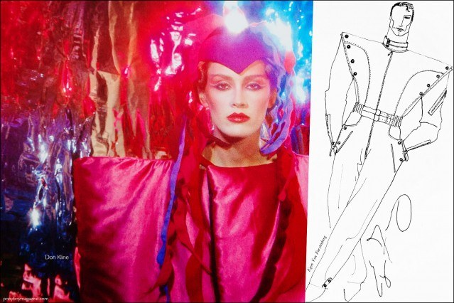 Futuristic fashion photography and sketches from the Viking Press book Fashion: 2001 by Lucille Khornak. Ponyboy magazine.
