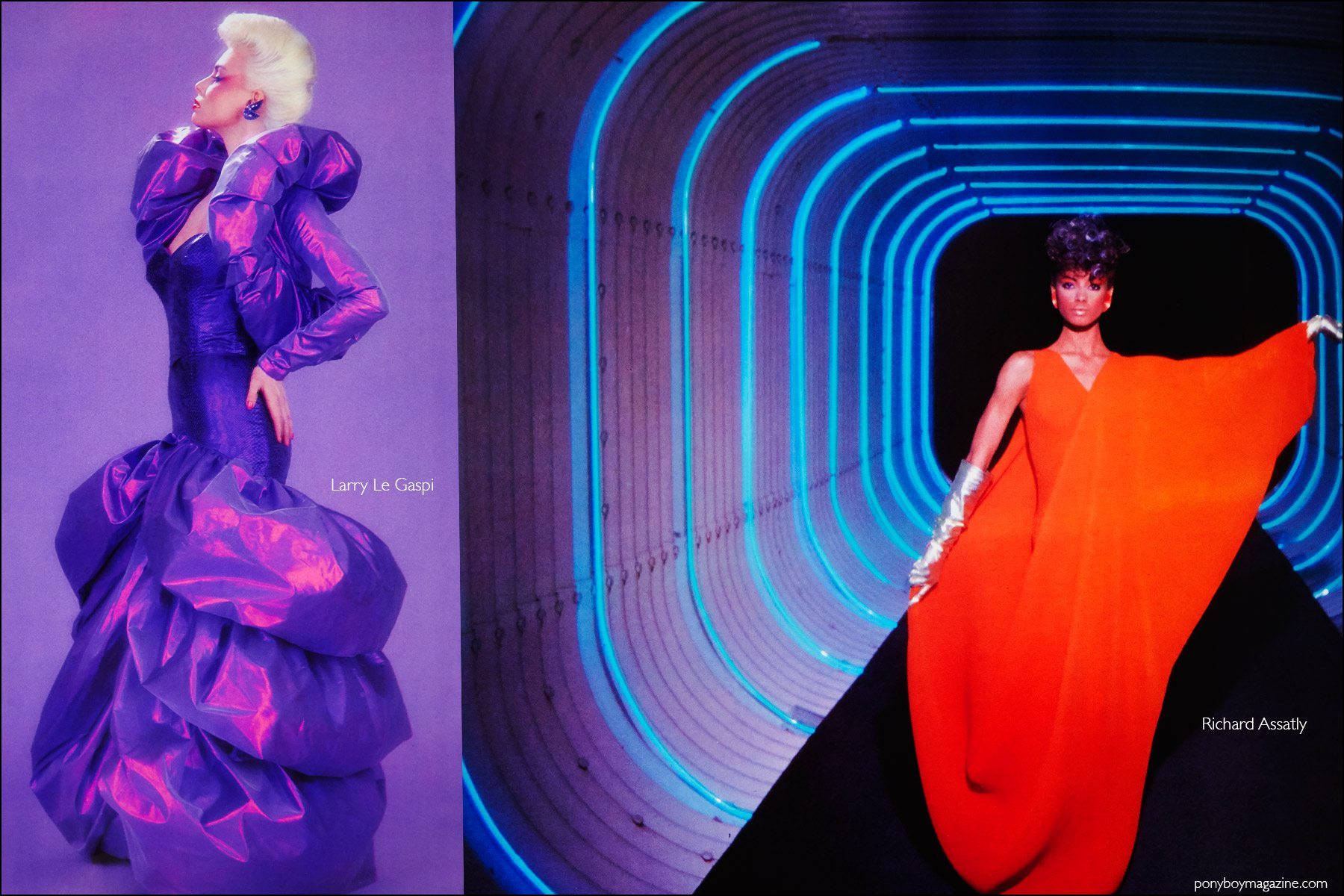 Futuristic fashion photos from the book Fashion: 2001 by Lucille Khornak. Ponyboy magazine NY.